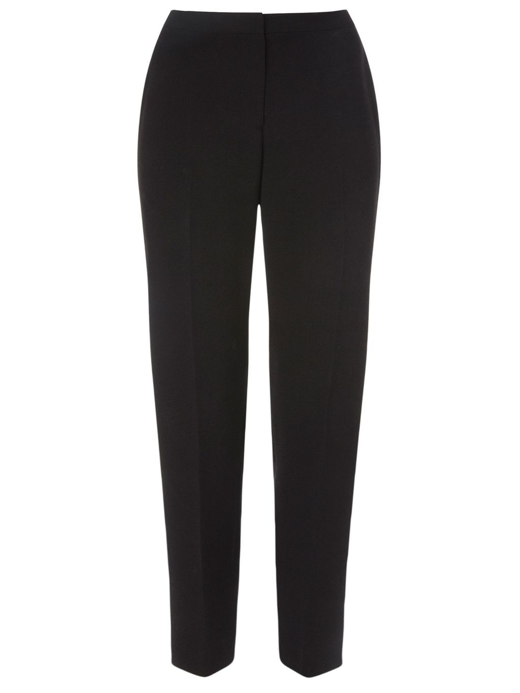 Vivienne Tailored Trouser, Black - length: standard; pattern: plain; waist: high rise; predominant colour: black; occasions: work; fibres: polyester/polyamide - 100%; fit: straight leg; pattern type: fabric; texture group: woven light midweight; style: standard; season: a/w 2015; wardrobe: basic