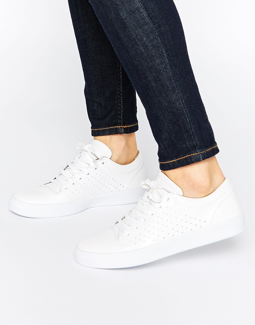 Tamora Lace Up 2 Leather White Trainers White - predominant colour: white; occasions: casual, creative work; material: leather; heel height: flat; toe: round toe; style: trainers; finish: plain; pattern: plain; season: a/w 2015; wardrobe: basic