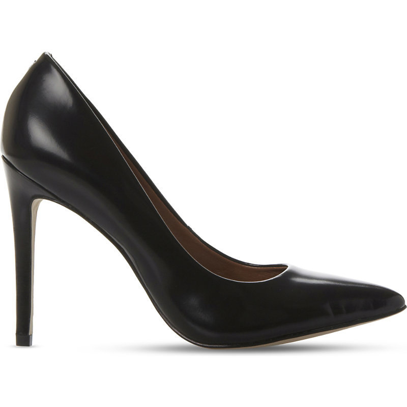 Pointed Leather Courts, Women's, Eur 38 / 5 Uk Women, Black Leather - predominant colour: black; occasions: evening, creative work; material: leather; heel: stiletto; toe: pointed toe; style: courts; finish: plain; pattern: plain; heel height: very high; season: a/w 2015; wardrobe: highlight
