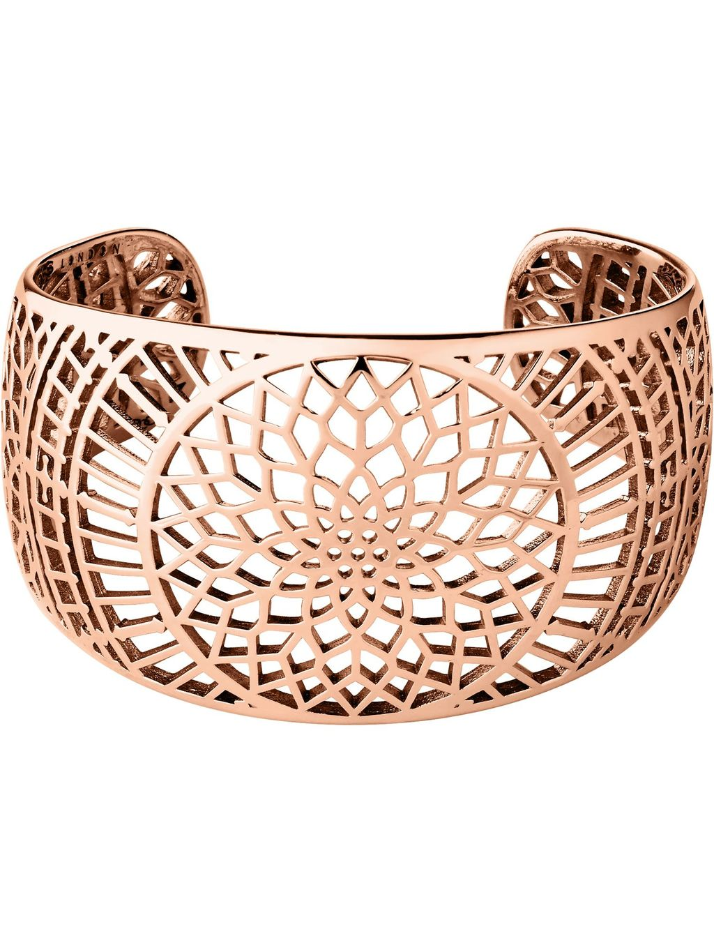 Timeless Rose Gold Cuff, N/A - predominant colour: gold; occasions: evening, occasion, creative work; style: cuff; size: large/oversized; material: chain/metal; finish: metallic; season: a/w 2015; wardrobe: highlight