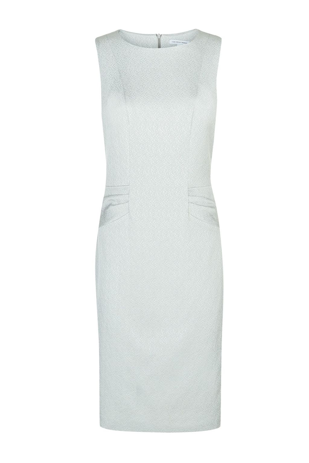 Fuji Dress, Grey - style: shift; neckline: round neck; pattern: plain; sleeve style: sleeveless; predominant colour: light grey; length: just above the knee; fit: body skimming; fibres: polyester/polyamide - mix; occasions: occasion; sleeve length: sleeveless; pattern type: fabric; texture group: jersey - stretchy/drapey; season: a/w 2015; wardrobe: event