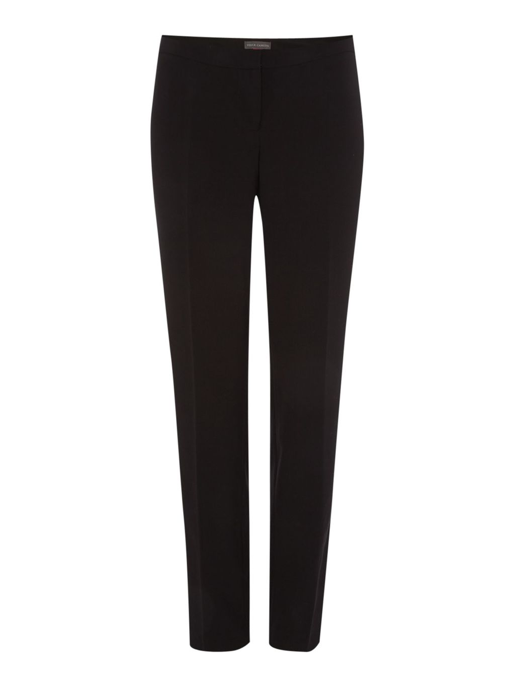 Zip Front Colourblock Trousers, Black - length: standard; pattern: plain; style: peg leg; waist: mid/regular rise; predominant colour: black; occasions: work; fibres: polyester/polyamide - mix; fit: tapered; pattern type: fabric; texture group: woven light midweight; season: a/w 2015; wardrobe: basic