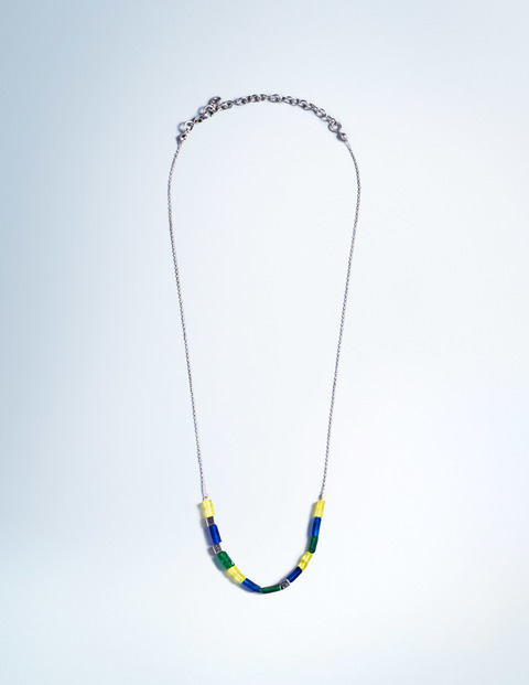 Ella Necklace Mallard Green Women Boden, Mallard Green - secondary colour: royal blue; predominant colour: gold; occasions: casual, creative work; length: mid; size: standard; material: chain/metal; finish: metallic; embellishment: beading; season: a/w 2015; style: bead; wardrobe: highlight