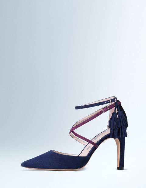 Amelia Heel Navy/Indian Plum/Black Women, Navy/Indian Plum/Black - secondary colour: purple; predominant colour: navy; material: suede; heel height: high; heel: standard; toe: pointed toe; style: courts; finish: plain; pattern: plain; occasions: creative work; season: a/w 2015