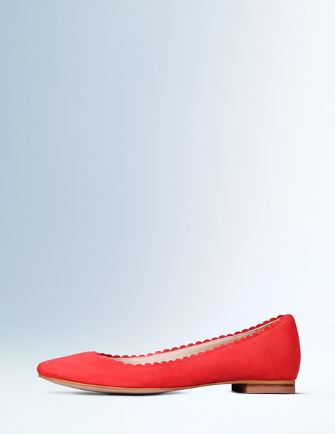 Ballerina Braid Women, Braid - predominant colour: true red; occasions: casual, creative work; material: suede; heel height: flat; toe: round toe; style: ballerinas / pumps; finish: plain; pattern: plain; season: a/w 2015; wardrobe: highlight