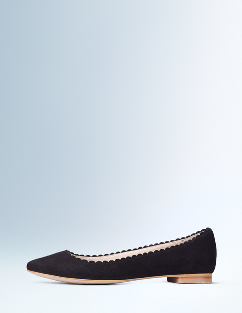 Ballerina Black Women, Black - predominant colour: black; occasions: casual, work, creative work; material: suede; heel height: flat; toe: pointed toe; style: ballerinas / pumps; finish: plain; pattern: plain; season: a/w 2015; wardrobe: basic