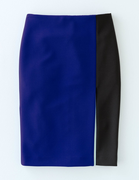 Colourblock Skirt Blue/Black/Mint Women, Blue/Black/Mint - style: pencil; fit: tailored/fitted; waist: mid/regular rise; predominant colour: royal blue; secondary colour: black; length: just above the knee; fibres: polyester/polyamide - stretch; pattern type: fabric; pattern: colourblock; texture group: other - light to midweight; occasions: creative work; pattern size: standard (bottom); season: a/w 2015; wardrobe: highlight