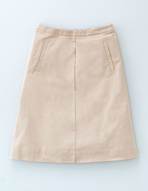 Chino Skirt Porridge Women, Porridge - length: mid thigh; pattern: plain; fit: loose/voluminous; waist: mid/regular rise; predominant colour: stone; occasions: casual; style: a-line; fibres: cotton - stretch; pattern type: fabric; texture group: other - light to midweight; season: a/w 2015; wardrobe: basic