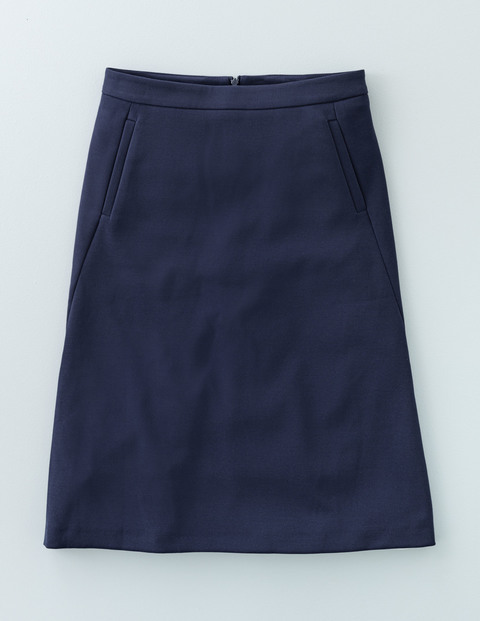 Harper Skirt Navy Women, Navy - pattern: plain; fit: loose/voluminous; waist: high rise; predominant colour: navy; occasions: casual, creative work; length: just above the knee; style: a-line; fibres: polyester/polyamide - stretch; pattern type: fabric; texture group: woven light midweight; season: a/w 2015; wardrobe: basic