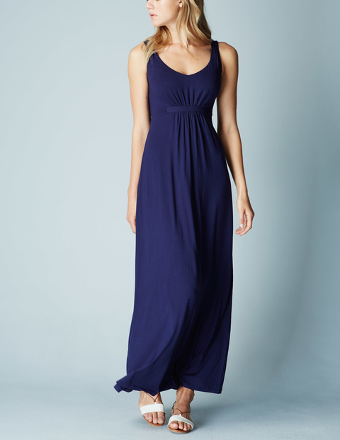 Jersey Maxi Summer Dress Navy Women, Navy - sleeve style: standard vest straps/shoulder straps; fit: fitted at waist; pattern: plain; style: maxi dress; length: ankle length; waist detail: fitted waist; predominant colour: navy; neckline: scoop; fibres: cotton - stretch; occasions: occasion; hip detail: subtle/flattering hip detail; sleeve length: sleeveless; pattern type: fabric; texture group: jersey - stretchy/drapey; season: a/w 2015; wardrobe: event