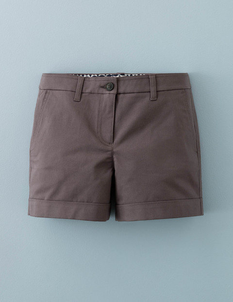Chino Shorts Pewter Women, Pewter - pattern: plain; waist: mid/regular rise; predominant colour: mid grey; occasions: casual, creative work; fibres: cotton - stretch; pattern type: fabric; texture group: woven light midweight; season: a/w 2015; wardrobe: basic; style: shorts; length: short shorts; fit: slim leg