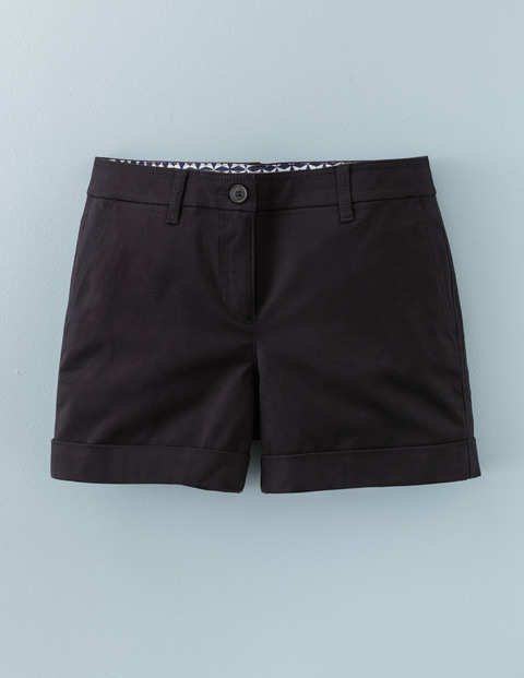 Chino Shorts Black Women, Black - pattern: plain; waist: mid/regular rise; predominant colour: black; occasions: casual; fibres: cotton - 100%; waist detail: feature waist detail; texture group: cotton feel fabrics; pattern type: fabric; season: a/w 2015; wardrobe: basic; style: shorts; length: short shorts; fit: slim leg