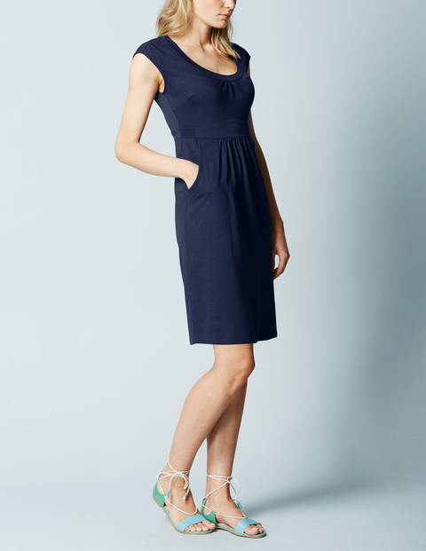 Casual Weekend Summer Dress Navy Women, Navy - style: shift; sleeve style: capped; pattern: plain; waist detail: flattering waist detail; predominant colour: navy; length: just above the knee; fit: body skimming; neckline: scoop; fibres: cotton - stretch; sleeve length: sleeveless; pattern type: fabric; texture group: jersey - stretchy/drapey; occasions: creative work; season: a/w 2015; wardrobe: investment