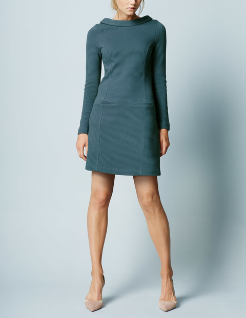 Marion Ottoman Tunic Work Dress Mallard Women, Mallard - style: tunic; length: mid thigh; pattern: plain; predominant colour: teal; occasions: evening, creative work; fit: soft a-line; fibres: cotton - 100%; neckline: crew; sleeve length: long sleeve; sleeve style: standard; pattern type: fabric; pattern size: standard; texture group: jersey - stretchy/drapey; season: a/w 2015; wardrobe: highlight