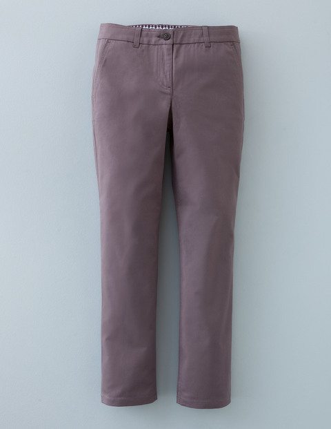 7/8 Chino Pewter Women, Pewter - pattern: plain; waist: mid/regular rise; predominant colour: aubergine; occasions: casual, creative work; length: ankle length; style: chino; fibres: cotton - stretch; fit: straight leg; pattern type: fabric; texture group: woven light midweight; pattern size: standard (bottom); season: a/w 2015