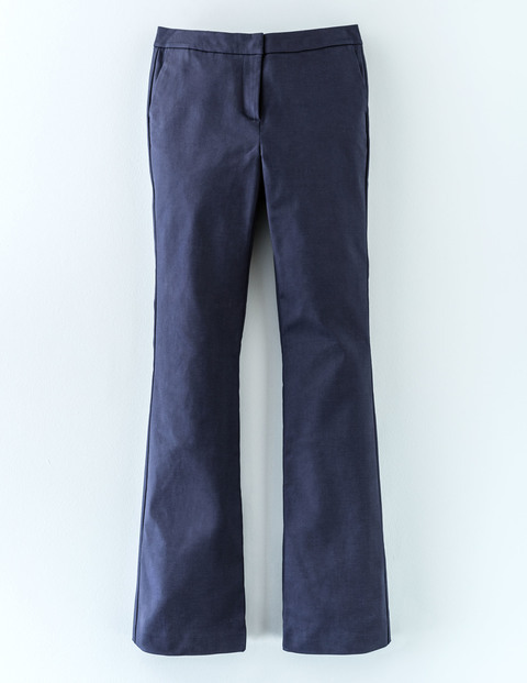 Twickenham Slim Flare Navy Women, Navy - style: flares; length: standard; pattern: plain; waist: mid/regular rise; predominant colour: navy; occasions: casual; fibres: cotton - stretch; jeans detail: dark wash; texture group: denim; pattern type: fabric; season: a/w 2015; wardrobe: basic