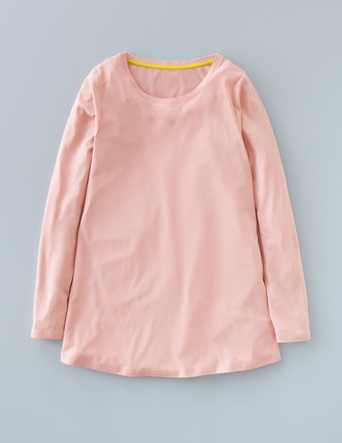 Supersoft Swing Top Rose Quartz Women, Rose Quartz - pattern: plain; style: t-shirt; predominant colour: pink; occasions: casual; length: standard; fibres: cotton - stretch; fit: loose; neckline: crew; sleeve length: long sleeve; sleeve style: standard; pattern type: fabric; texture group: jersey - stretchy/drapey; season: a/w 2015; wardrobe: highlight