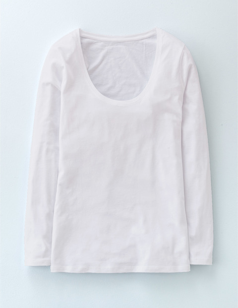 Supersoft Long Sleeve Scoop White Women, White - pattern: plain; style: t-shirt; predominant colour: white; occasions: casual; length: standard; neckline: scoop; fibres: cotton - stretch; fit: body skimming; sleeve length: long sleeve; sleeve style: standard; texture group: jersey - clingy; pattern type: fabric; season: a/w 2015; wardrobe: basic