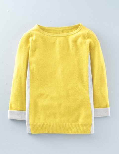 Visual Cashmere Jumper Mimosa Yellow/Silver Melange Women, Mimosa Yellow/Silver Melange - neckline: round neck; pattern: plain; style: standard; secondary colour: white; predominant colour: yellow; occasions: casual; length: standard; fit: slim fit; fibres: cashmere - 100%; sleeve length: long sleeve; sleeve style: standard; texture group: knits/crochet; pattern type: fabric; multicoloured: multicoloured; season: a/w 2015; wardrobe: highlight
