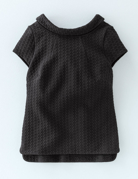 Square Jacquard Top Black Women, Black - pattern: plain; neckline: high neck; predominant colour: black; occasions: casual; length: standard; style: top; fibres: polyester/polyamide - stretch; fit: body skimming; sleeve length: short sleeve; sleeve style: standard; pattern type: fabric; texture group: brocade/jacquard; season: a/w 2015; wardrobe: basic