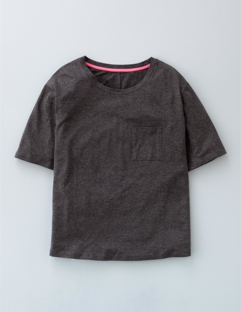 Supersoft Boxy Tee Charcoal Marl Women, Charcoal Marl - neckline: round neck; pattern: plain; style: t-shirt; predominant colour: charcoal; occasions: casual; length: standard; fibres: cotton - mix; fit: straight cut; sleeve length: short sleeve; sleeve style: standard; pattern type: fabric; texture group: jersey - stretchy/drapey; season: a/w 2015; wardrobe: basic