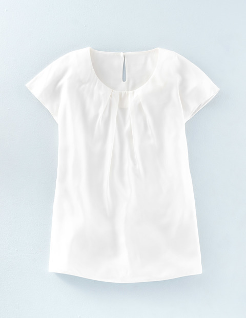 Long Line Ravello Top Ivory Women, Ivory - neckline: round neck; pattern: plain; predominant colour: ivory/cream; occasions: casual; length: standard; style: top; fit: body skimming; sleeve length: short sleeve; sleeve style: standard; pattern type: fabric; texture group: jersey - stretchy/drapey; fibres: viscose/rayon - mix; season: a/w 2015; wardrobe: basic
