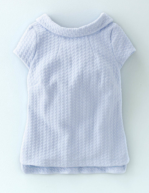 Square Jacquard Top Cloud Women, Cloud - pattern: plain; neckline: high neck; predominant colour: pale blue; occasions: casual; length: standard; style: top; fibres: polyester/polyamide - stretch; fit: body skimming; sleeve length: short sleeve; sleeve style: standard; pattern type: fabric; texture group: brocade/jacquard; season: a/w 2015; wardrobe: highlight