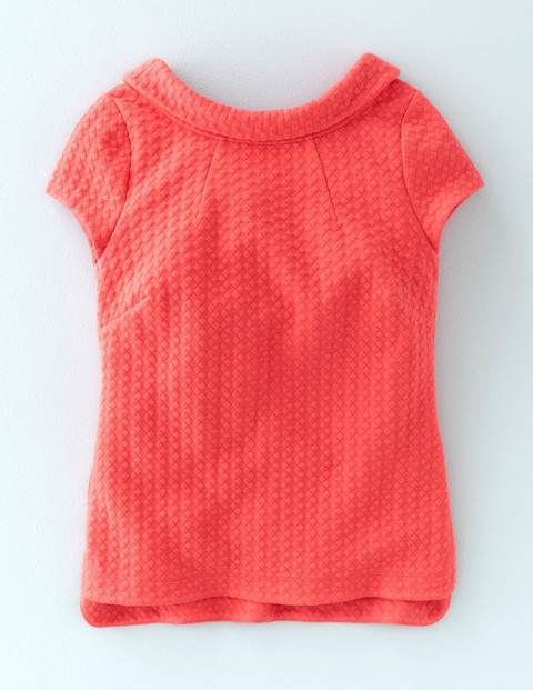 Square Jacquard Top Coral Reef Women, Coral Reef - neckline: round neck; pattern: plain; predominant colour: coral; occasions: casual; length: standard; style: top; fibres: polyester/polyamide - stretch; fit: body skimming; sleeve length: short sleeve; sleeve style: standard; pattern type: fabric; texture group: brocade/jacquard; season: a/w 2015