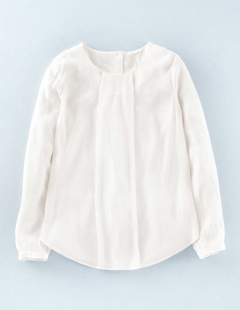Fenella Top Ivory Women, Ivory - neckline: round neck; pattern: plain; predominant colour: ivory/cream; occasions: casual, work, creative work; length: standard; style: top; fibres: viscose/rayon - 100%; fit: loose; sleeve length: long sleeve; sleeve style: standard; pattern type: fabric; pattern size: standard; texture group: other - light to midweight; season: a/w 2015; wardrobe: basic