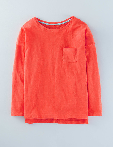 Lightweight Drop Shoulder Firecracker Women, Firecracker - pattern: plain; style: t-shirt; predominant colour: coral; occasions: casual; length: standard; fibres: cotton - 100%; fit: body skimming; neckline: crew; sleeve length: long sleeve; sleeve style: standard; pattern type: fabric; texture group: jersey - stretchy/drapey; season: a/w 2015; wardrobe: highlight