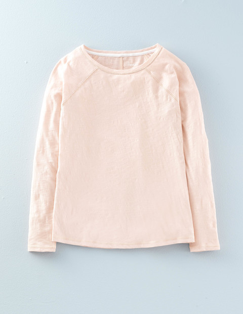 Lightweight Baseball Tee Pink Pearl Women, Pink Pearl - pattern: plain; predominant colour: blush; occasions: casual; length: standard; style: top; fibres: cotton - 100%; fit: body skimming; neckline: crew; sleeve length: long sleeve; sleeve style: standard; pattern type: fabric; texture group: jersey - stretchy/drapey; season: a/w 2015; wardrobe: basic