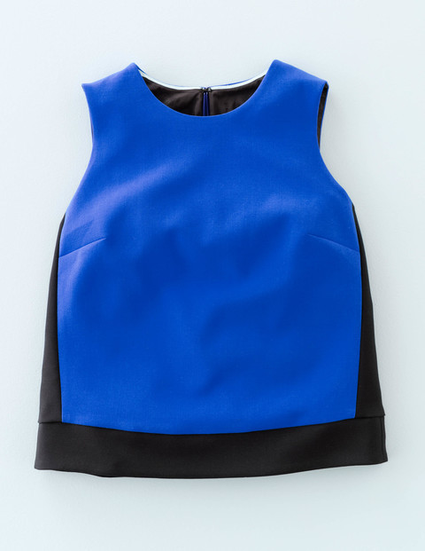 Audrey Colourblock Top Renaissance Blue/Black Women, Renaissance Blue/Black - sleeve style: standard vest straps/shoulder straps; predominant colour: royal blue; secondary colour: black; occasions: casual, creative work; length: standard; style: top; fibres: polyester/polyamide - 100%; fit: straight cut; neckline: crew; sleeve length: sleeveless; pattern type: fabric; pattern: colourblock; texture group: woven light midweight; season: a/w 2015