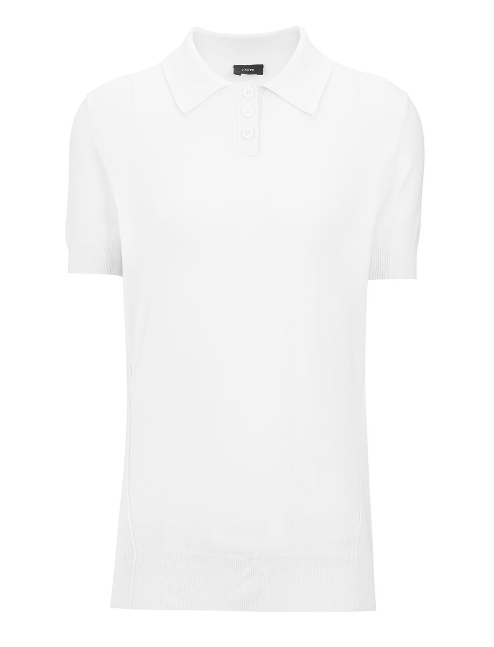 Fine Silk Polo In Ecru - neckline: shirt collar/peter pan/zip with opening; pattern: plain; style: polo shirt; predominant colour: white; occasions: casual, creative work; length: standard; fibres: silk - 100%; fit: body skimming; sleeve length: short sleeve; sleeve style: standard; texture group: silky - light; pattern type: fabric; season: a/w 2015; wardrobe: basic