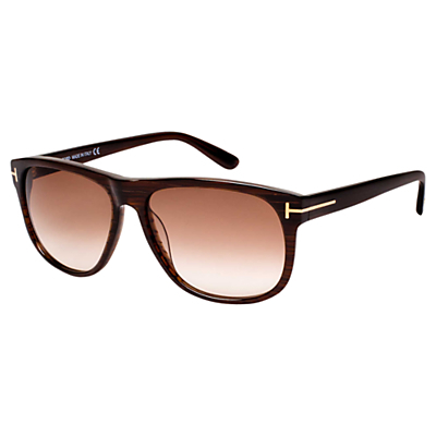 Ft0236 Olivier Square Sunglasses - predominant colour: chocolate brown; occasions: casual, holiday; style: square; size: standard; material: plastic/rubber; pattern: plain; finish: plain; season: s/s 2016