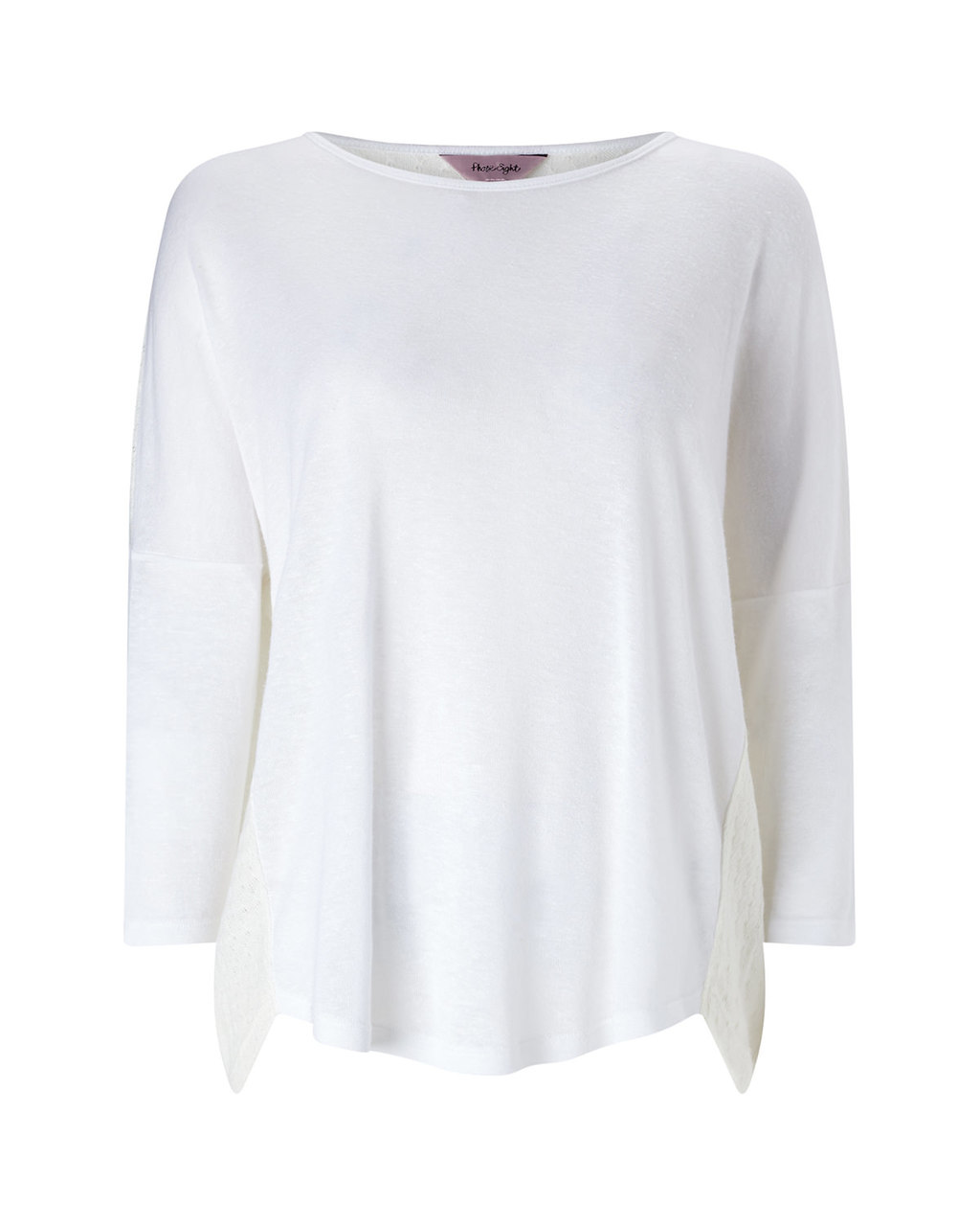 Terrie Textured Back Top - neckline: slash/boat neckline; sleeve style: dolman/batwing; pattern: plain; style: t-shirt; predominant colour: ivory/cream; occasions: casual; length: standard; fibres: cotton - stretch; fit: loose; sleeve length: 3/4 length; pattern type: fabric; texture group: jersey - stretchy/drapey; season: a/w 2015; wardrobe: basic