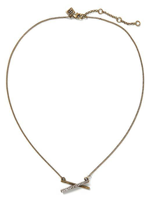 Delicate Sparkle Necklace Brass - predominant colour: silver; occasions: evening, creative work; style: pendant; length: short; size: standard; material: chain/metal; finish: plain; season: a/w 2015; wardrobe: basic