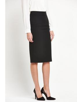Mix And Match Midi Skirt - length: below the knee; pattern: plain; style: pencil; waist: high rise; predominant colour: black; occasions: evening, work; fibres: polyester/polyamide - stretch; fit: straight cut; pattern type: fabric; texture group: woven light midweight; season: s/s 2016; wardrobe: basic