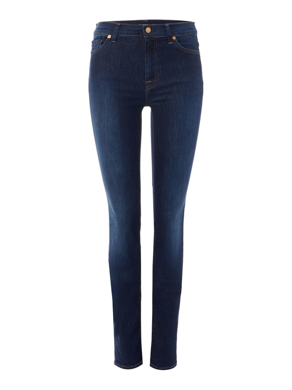 Rozie High Rise Skinny Jeans In Long Boston Blue, Denim Mid Wash - style: skinny leg; length: standard; pattern: plain; waist: high rise; pocket detail: traditional 5 pocket; predominant colour: navy; occasions: casual; fibres: cotton - stretch; jeans detail: dark wash; texture group: denim; pattern type: fabric; season: a/w 2015