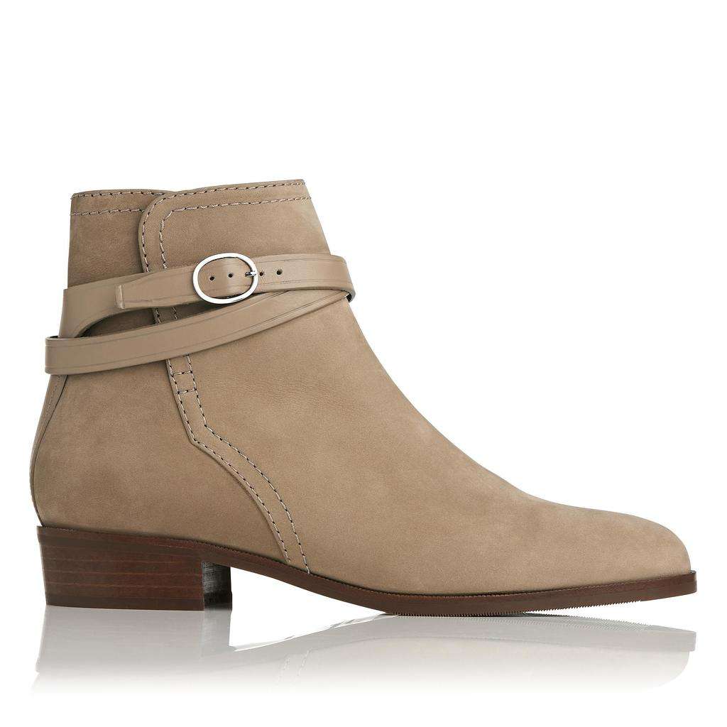 Kadi Sand Leather Boots Brown Sand - predominant colour: stone; occasions: casual, creative work; material: suede; heel height: flat; heel: standard; toe: round toe; boot length: ankle boot; style: standard; finish: plain; pattern: plain; season: a/w 2015; wardrobe: basic