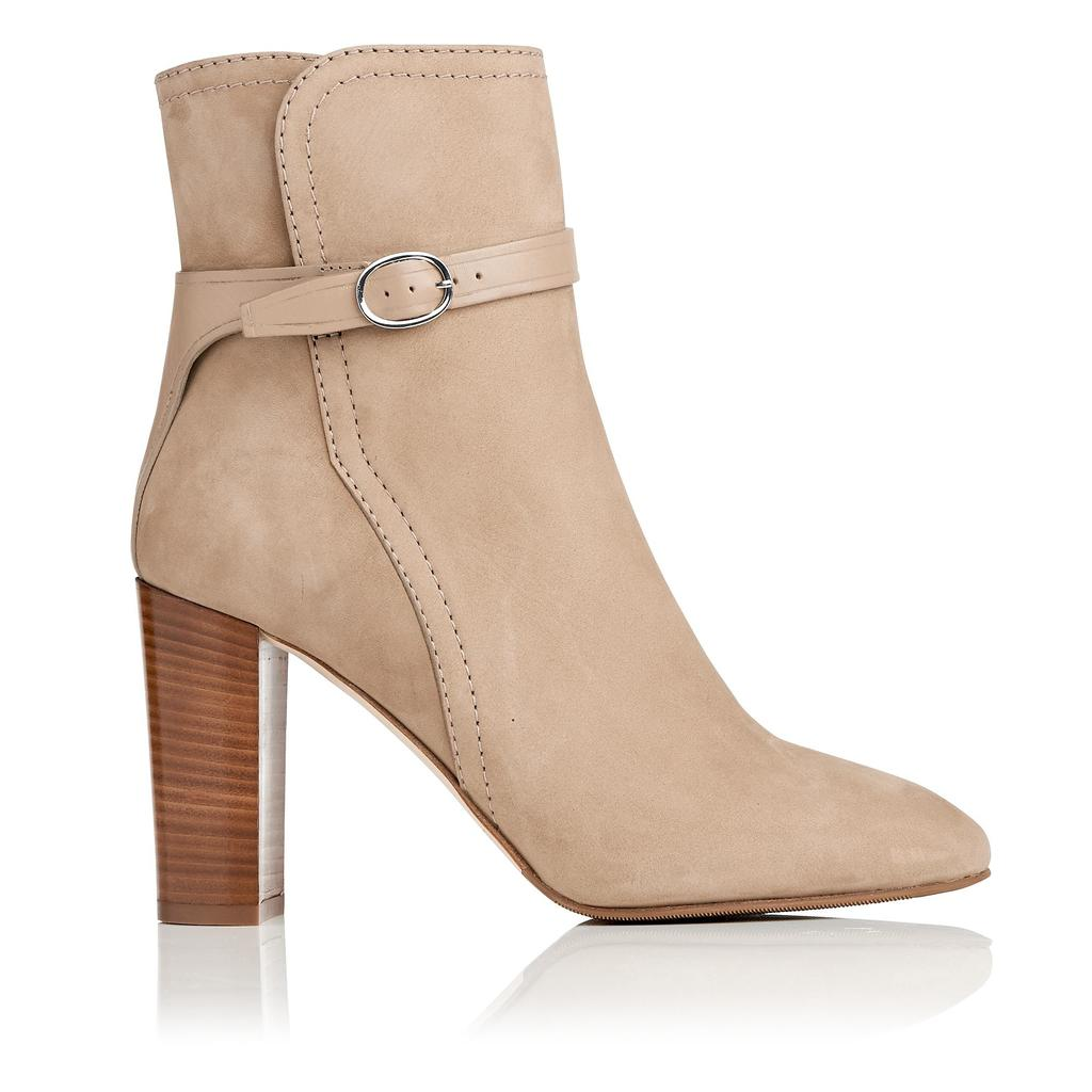 Kiely Sand Leather Ankle Boots Brown Sand - predominant colour: nude; occasions: casual, creative work; material: suede; heel height: high; heel: block; toe: round toe; boot length: ankle boot; style: standard; finish: plain; pattern: plain; season: a/w 2015; wardrobe: highlight