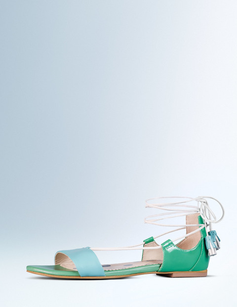 Sienna Sandal Oxygen/Chalky Green Women, Oxygen/Chalky Green - predominant colour: emerald green; occasions: casual, holiday, creative work; material: leather; heel height: flat; ankle detail: ankle tie; heel: block; toe: open toe/peeptoe; style: strappy; finish: plain; pattern: plain; season: a/w 2015; wardrobe: highlight