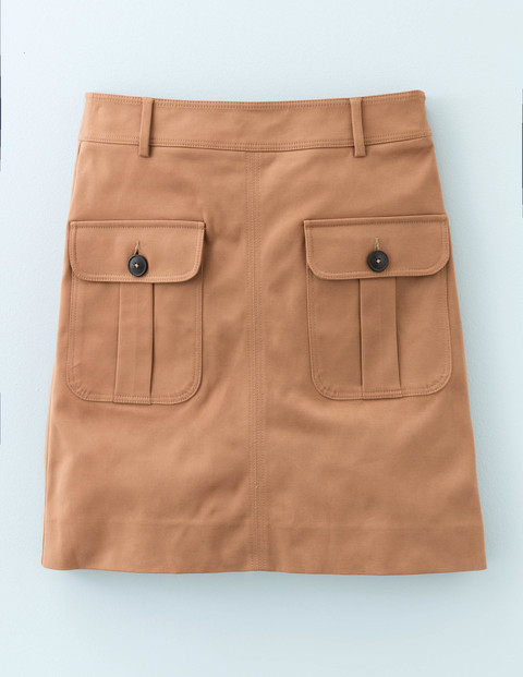 Ella Skirt Mole Women, Mole - length: mid thigh; pattern: plain; style: straight; fit: tailored/fitted; waist: mid/regular rise; predominant colour: camel; occasions: casual, creative work; fibres: cotton - 100%; pattern type: fabric; texture group: other - light to midweight; season: a/w 2015; wardrobe: basic