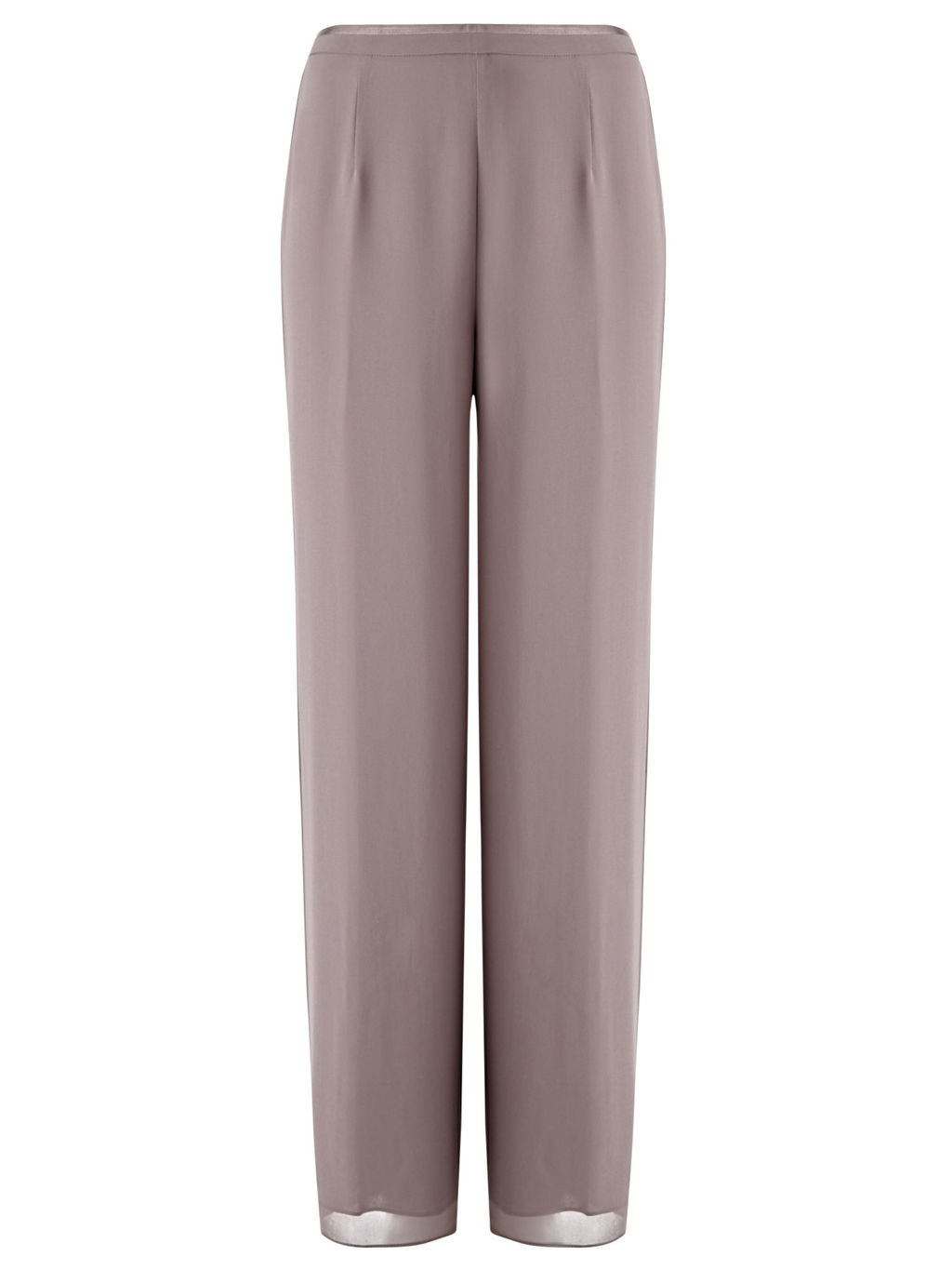 Grosgrain Trouser - length: standard; pattern: plain; waist: mid/regular rise; predominant colour: taupe; fibres: polyester/polyamide - 100%; occasions: occasion; texture group: sheer fabrics/chiffon/organza etc.; fit: wide leg; pattern type: fabric; style: standard; season: s/s 2016