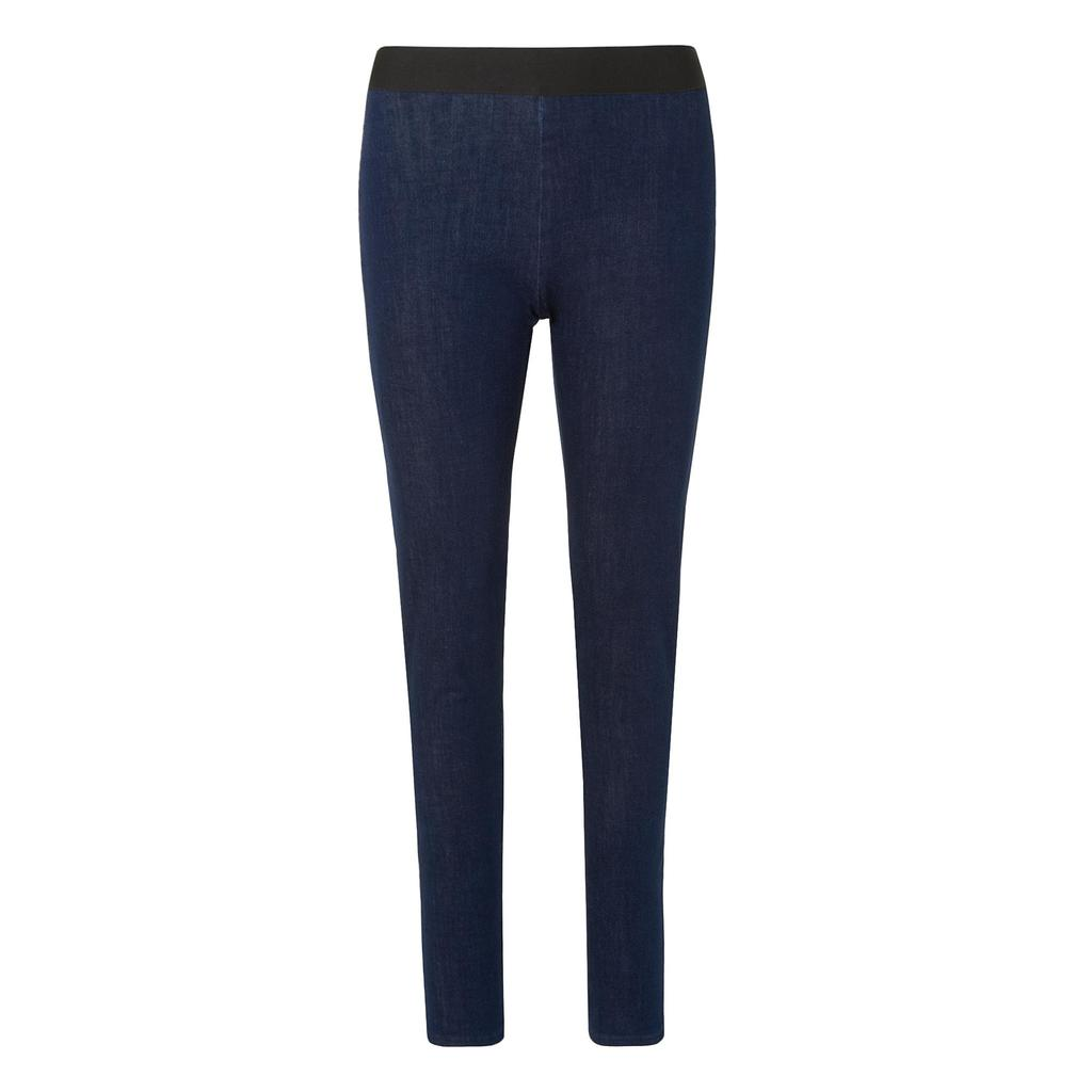 Adana Denim Trouser Leggings - length: standard; pattern: plain; waist: mid/regular rise; predominant colour: navy; occasions: casual; fibres: cotton - stretch; texture group: denim; fit: slim leg; pattern type: fabric; style: standard; season: a/w 2015; wardrobe: basic
