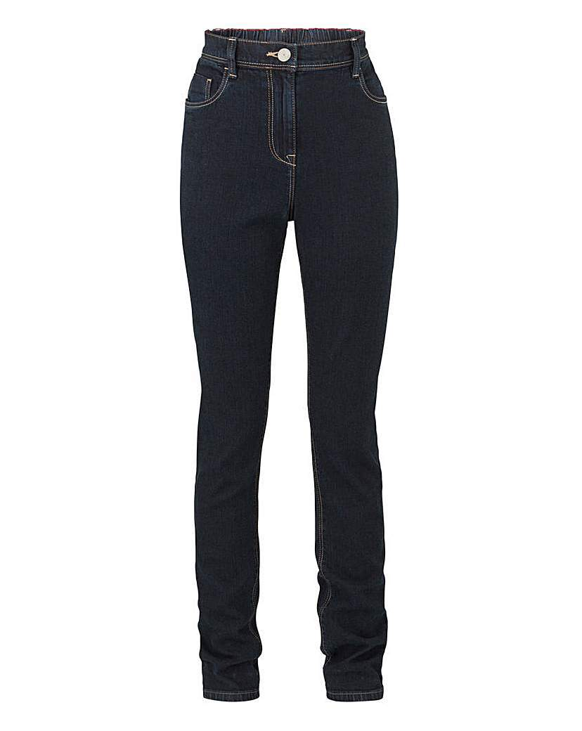 Slim Leg Jeans Short - length: standard; pattern: plain; waist: high rise; pocket detail: traditional 5 pocket; style: slim leg; predominant colour: black; occasions: casual; fibres: cotton - stretch; texture group: denim; pattern type: fabric; season: a/w 2015; wardrobe: basic