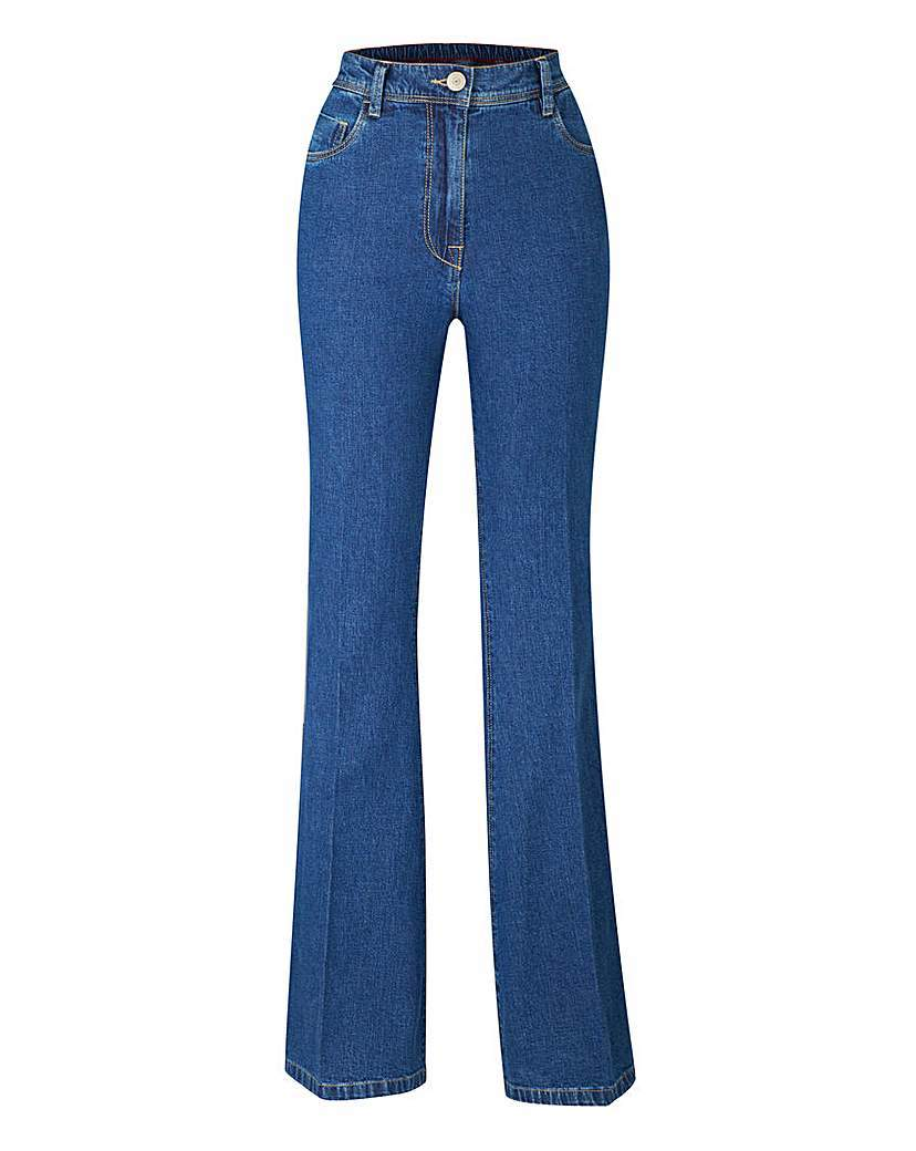 Kick Flare Jeans Regular - style: flares; length: standard; pattern: plain; waist: high rise; predominant colour: denim; occasions: casual, creative work; fibres: cotton - stretch; texture group: denim; pattern type: fabric; season: a/w 2015; wardrobe: basic