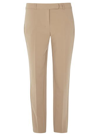 Womens **Tall Latte Ankle Grazers White - length: standard; pattern: plain; waist: mid/regular rise; predominant colour: camel; occasions: casual, creative work; fibres: polyester/polyamide - stretch; fit: slim leg; pattern type: fabric; texture group: woven light midweight; style: standard; season: s/s 2016; wardrobe: basic