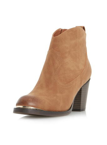 Womens **Head Over Heels 'paityn' Ankle Boots Brown - predominant colour: camel; occasions: casual, creative work; material: suede; heel height: high; heel: block; toe: round toe; boot length: ankle boot; style: standard; finish: plain; pattern: plain; season: s/s 2016; wardrobe: highlight
