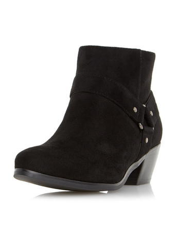 Womens *Head Over Heels Black Pointed Ankle Boots Black - predominant colour: black; occasions: casual; heel height: mid; heel: standard; toe: round toe; boot length: ankle boot; style: standard; finish: plain; pattern: plain; material: faux suede; season: s/s 2016; wardrobe: basic