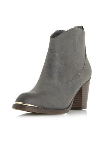 Womens **Head Over Heels Grey 'paityn' Boots Grey - predominant colour: mid grey; occasions: casual, creative work; material: suede; heel height: high; heel: block; toe: round toe; boot length: ankle boot; style: standard; finish: plain; pattern: plain; season: s/s 2016; wardrobe: highlight